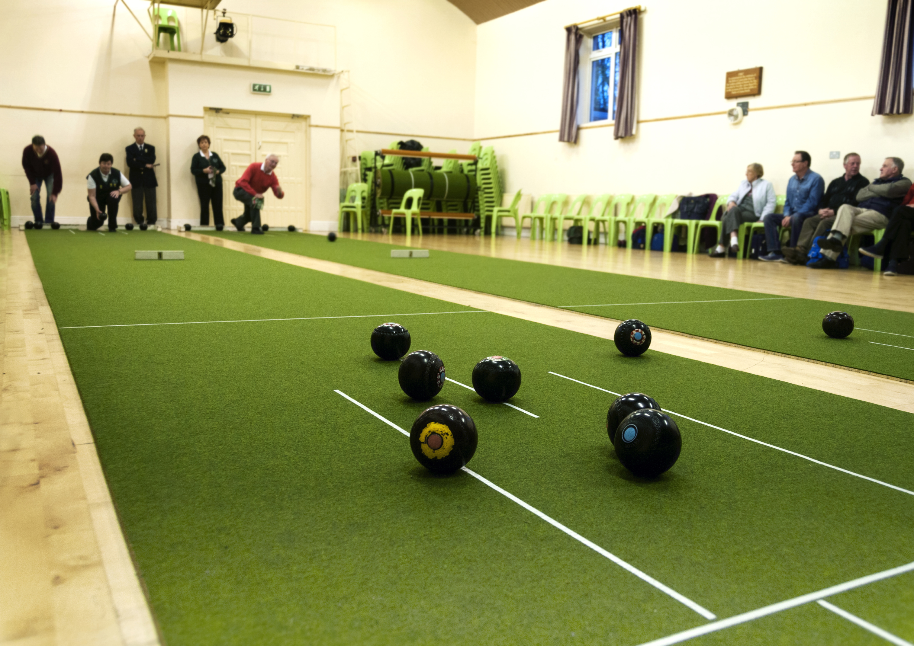 Indoor bowls 1 plus work I'm not sure about